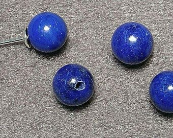 Lapis lazuli Half-drilled Beads, select your size. Sold as single bead