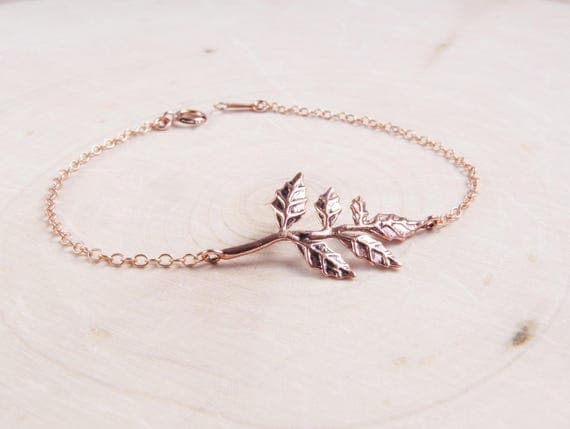 Rose Gold Branch Bracelet