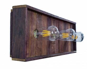 Tank Wood Vanity Light - VINUM - Kidai Out Sconce