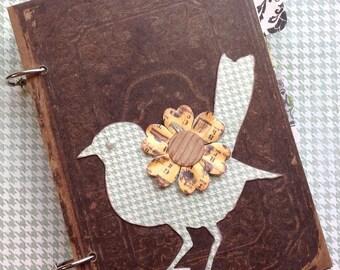 Handmade Vintage Bird Journal/Keepsake Album/Junk Journal