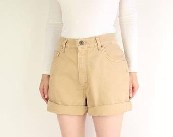 VINTAGE Denim Shorts Levis 550 Jeans Sand Brown