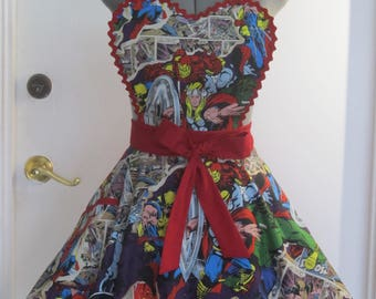 Pin Up Marvel Apron - With a Heart Shape Design
