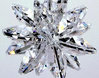 m/w Swarovski Crystal BIG Clear 20mm LILY Logo Octagons STARBURST Sunburst Star SunCatcher Home Decor Ornament, Pearl Place N More