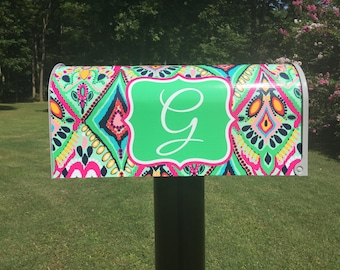 Lilly Pulitzer Print Themed Mailbox
