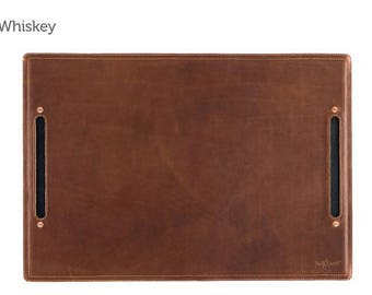 Whiskey Large Leather Desk Pad & Desk Protector l Leather Desk Mat