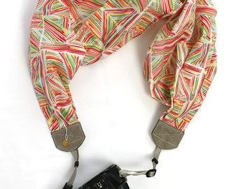 scarf camera strap bamboo beach - BCSCS098