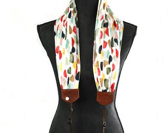 scarf camera strap inky fingers - BCSCS103