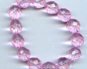 Pink 10mm Multifaceted Crystals