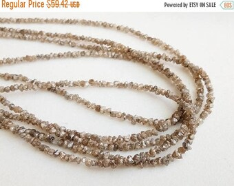 ON SALE 55% 4 Inch Light Brown Rough Diamond Beads, 2-3mm Natural Diamond Rondelle, Brown Raw Diamond, Brown Raw Uncut Diamond Beads - DS372
