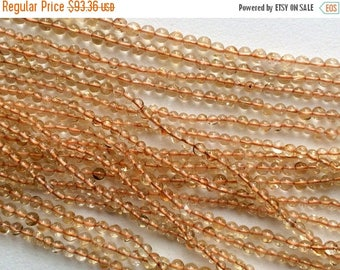 ON SALE 50% WHOLESALE 5 Strands Citrine Beads, Orange Citrine Plain Round Balls, Citrine Necklace, Citrine Gemstone Beads, 3-4mm, 14 Inch St