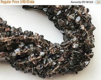 ON SALE 50% WHOLESALE 5 Strands Smoky Quartz Chip Beads, Natural Smoky Quartz Gemstone Chips, Chip Beads, Smoky Necklace, 5-10mm, 32 Inch -