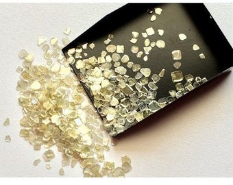 ON SALE 55% Diamond Slices, Yellow Diamond Slices, Faceted Diamond, Free Form, Rough Diamond, Raw Diamond, 4mm To 5mm, 6 Pieces, 0.9 Carat