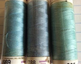 SALE three spools thread ,Mettler Silk finish, item 18
