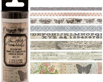 Tim Holtz- Design Tape Butterfly- 8 Different Tapes