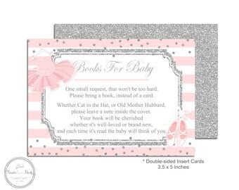 Baby Shower Book Request   Book Request Insert   Baby Shower Insert Card    Bring A