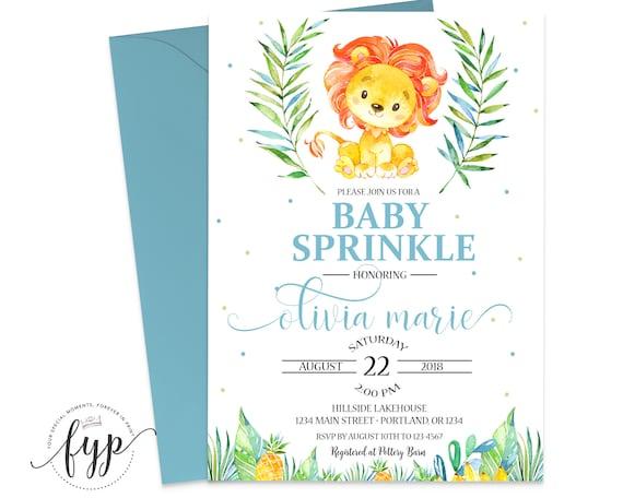 Baby sprinkle invitation lion baby shower invitation baby boy il570xn filmwisefo