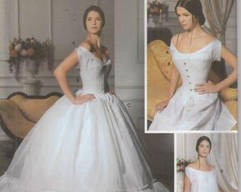 Corset Pattern Chemise, Petticoat Historical Civil War Era Reenactment Misses Size 6 - 8 - 10 - 12 Uncut Simplicity 5726