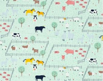 Farm Crib Sheet or Changing Pad Cover, Baby Crib Bedding, Animal Crib Sheet, Farm Nursery, Barn Baby Bedding