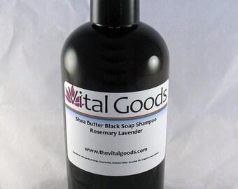 ON SALE Dreadlock shampoo rosemary & lavender Shea Butter Black Soap Shampoo 12oz