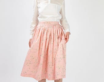Bridal separates Pink wedding skirt Skirt for a wedding Pink bridal skirt Pink Bridesmaid skirt Floral bridal skirt Boho skirt Handmade