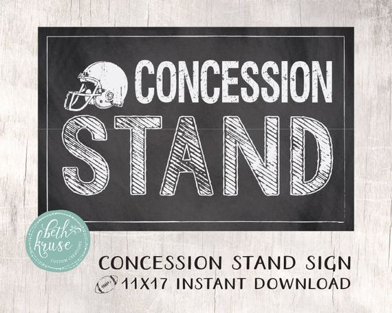 Inventive image with concession stand signs printable