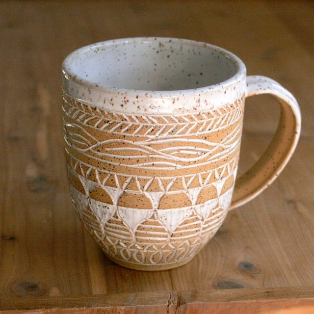 Vibrant Textured Pottery And Handmade Clay Stamps By