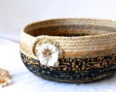Fall Halloween Decoration, Gorgeous Batik Basket, Handmade Halloween Centerpiece Bowl, Autumn Decoration, Trick or Treat Bowl