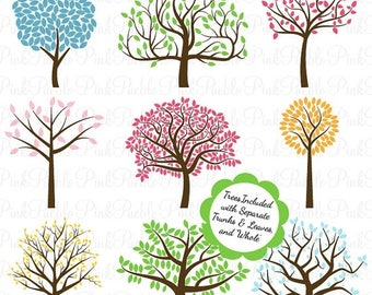 BACK TO SCHOOL Sale Tree Silhouettes Photoshop Brushes, Tree Photoshop Brushes - Commercial and Personal Use