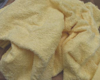 1/8 metre hand Dyed Viscose Soft Yellow