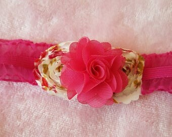 Pink Ruffle Flower Headband - Baby, Child