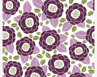 SALE 10% Off - Aviary 2 by Joel Dewberry - Bloom in Lilac JD45 - Free Spirit Fabric - By the Yard