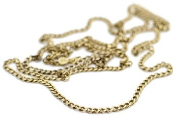 """Vintage 14k Gold Chain with Vintage Box Lock 30"""""""