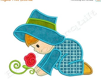 ON SALE MY Garden Boy 1 - Machine Applique Embroidery - Instant Digital Download