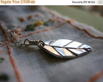 SALE Mint Leaf Sterling Silver Necklace