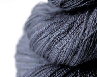 Stormy gray sea - Merino/Silk/Cashmere Fine Lace Yarn