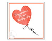 Handmade Personalised Wedding Balloon Forever Card Congratulations Mr and Mrs Mrs and Mrs Mr and Mr