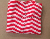 2 yards Silk Cotton Blend Red and White Stripe