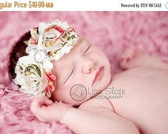 10% SALE Baby headband, newborn headband, adult headband, child headband floral chiffon headband