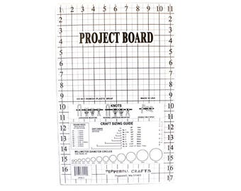 """Large Pepperell™ Cork Project Board with FREE Instruction Book - 11"""" x 17"""" - Learn How to Make Hemp Jewelry!"""