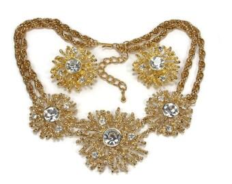 Vintage Kenneth Jay Lane KJ Regal Riches Necklace Earring Set