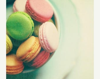 Food Photography, Kitchen Art Food: french macarons No.2  Fine Art Food Photography Still life Photography Pastel Cookies Kitchen Art