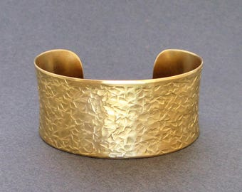Gold Cuff Bracelet Hammered Brass Bangle Bracelet Ancient Egyptian Jewelry Greek Jewelry Artisan Handmade Boho Chic Seventh Willow Jewelry