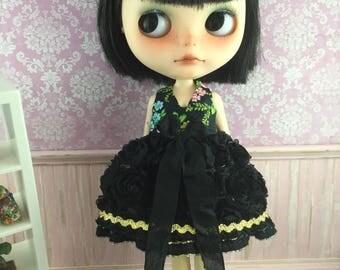 Blythe Garden of Roses Dress - black Floral