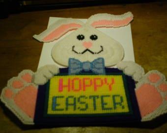 Plastic Canvas Hoppy Easter Door/Wall Hanger  #160
