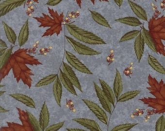 ON SALE Moda Fabric COUNTRY Road Holly Taylor 1/2 Yard Autumn Sky Blue Floral 6661-12