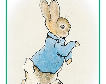GREAT SALE Peter Rabbit From the Tales of Peter Rabbit  by Beatrix Potter Counted Cross Stitch Chart / Pattern FREE Shipping