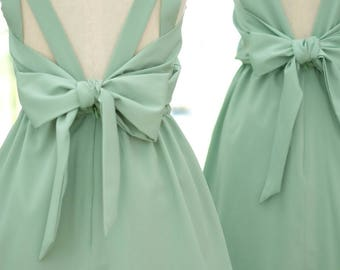 Sage green dress green party dress sage green bridesmaid green cocktail dress green prom dress sage dress green dress