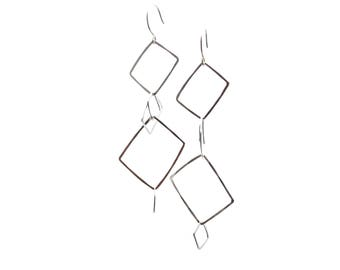 Squares and Rectangle Earrings