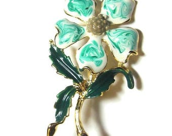 25% Off Vintage  Enamel Flower Pin - Brooch