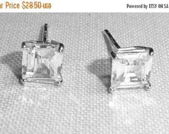 25% Off Vintage CZ earrings, pierced, wedding earrings